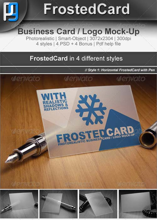 GraphicRiver Frosted Card / Logo Mock-Up