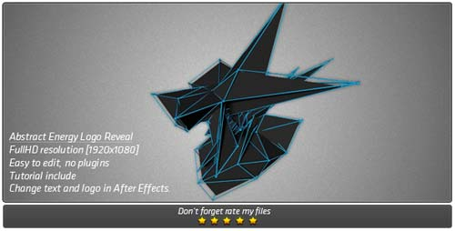 Abstract Energy Logo Reveal - After Effects Project (Videohive)