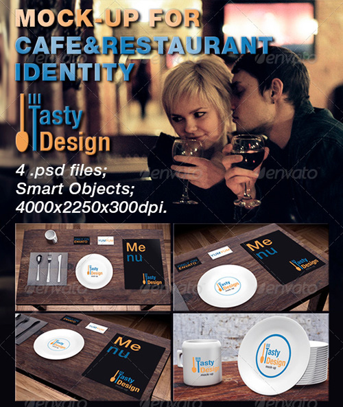 GraphicRiver Mock-up For Cafe&Restaurant Identity