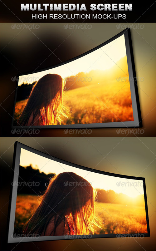 GraphicRiver Multimedia Screen Mockup Template