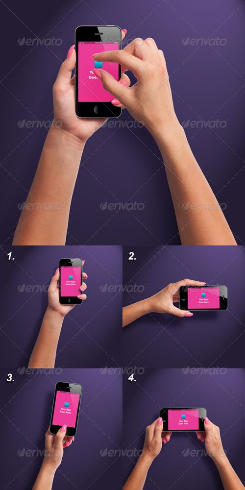 GraphicRiver Female Hands with Smartphone Photorealistic Mockup