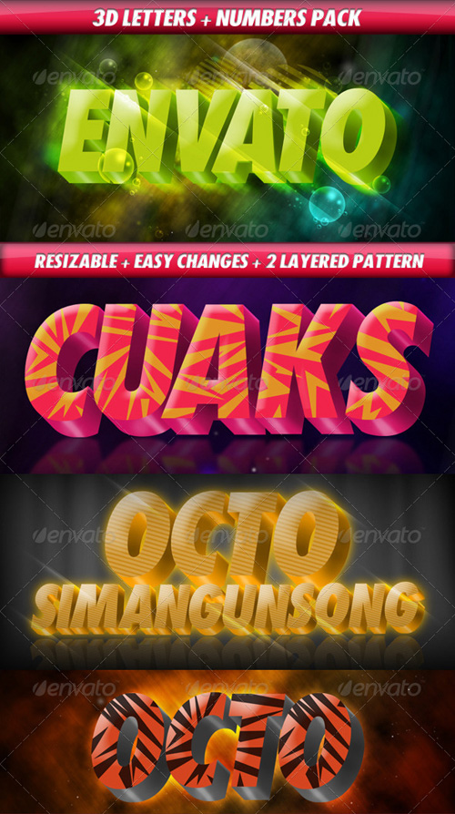 GraphicRiver 3D Letters Pack