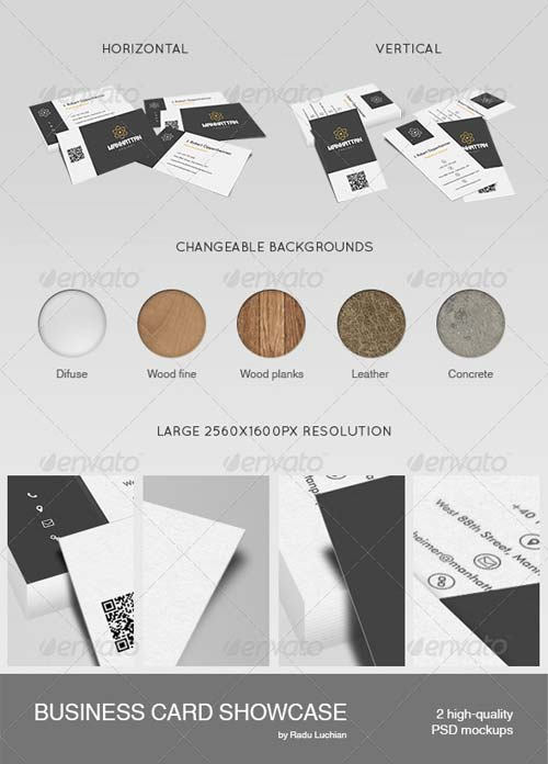 GraphicRiver 2 Business Card Showcase Mock-ups