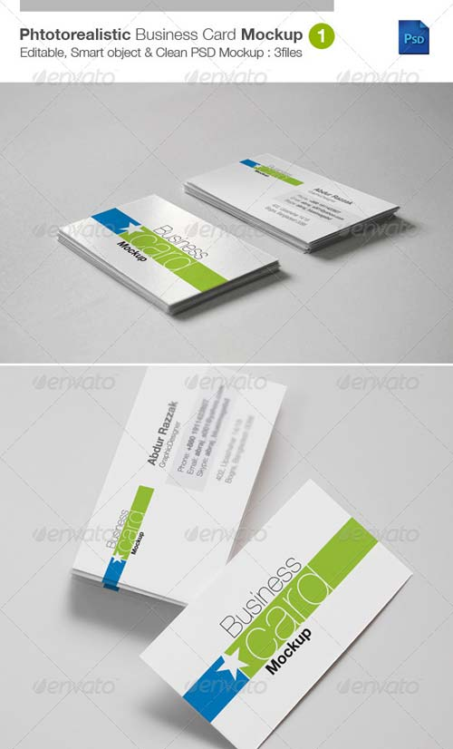 GraphicRiver Photorealistic Business Card Mockup v1