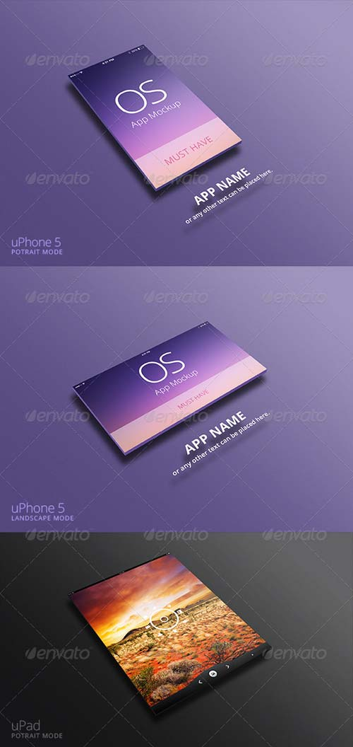 GraphicRiver App Mockup for uPhone & uPad
