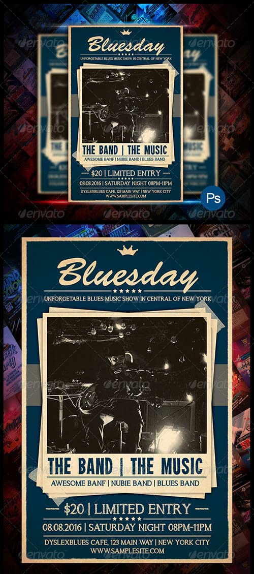 GraphicRiver Blues Concert Flyer