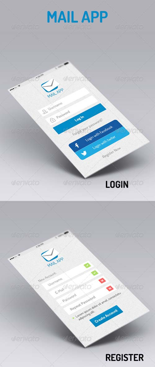 GraphicRiver Mail App - iOS Retina