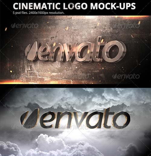 GraphicRiver Cinematic Logo Mock-ups