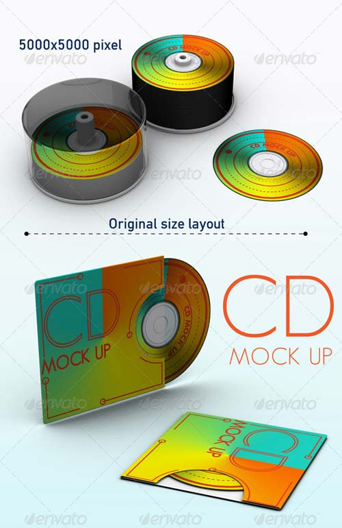GraphicRiver Cd Mock Up