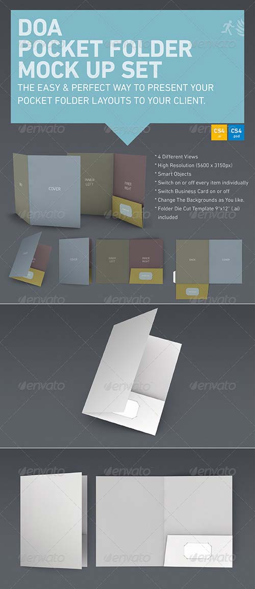 GraphicRiver DOA Pocket Folder Mock Up Set
