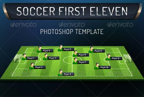 GraphicRiver First Eleven Soccer Photoshop Template