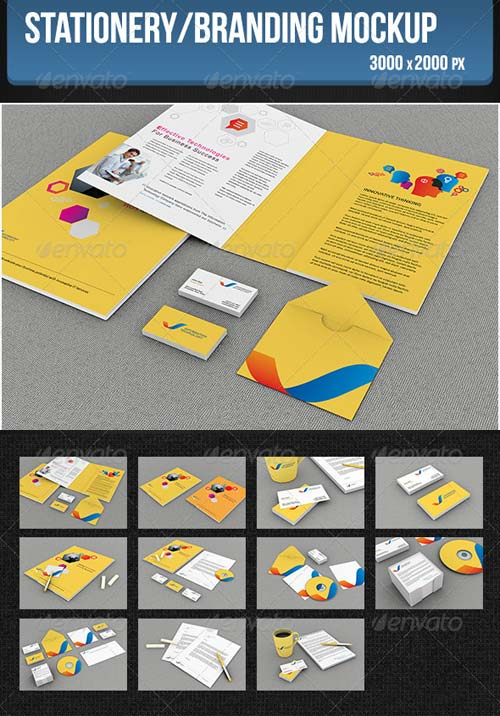 GraphicRiver Stationery/Branding Mockup 5272681