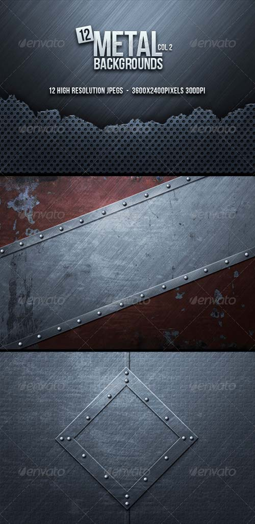 GraphicRiver Metal Backgrounds Col2