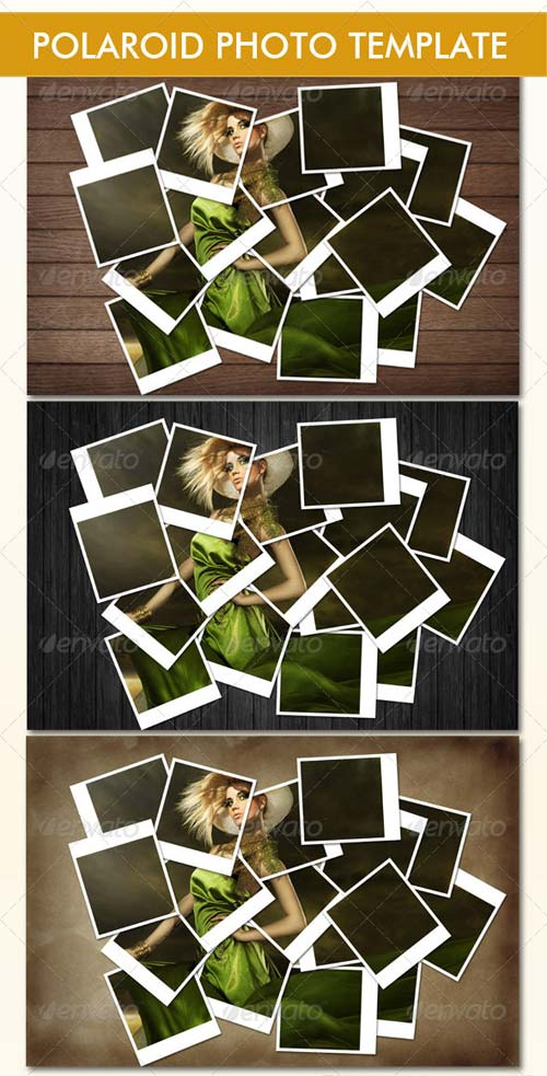 GraphicRiver Instant Photo Frames Photo Template