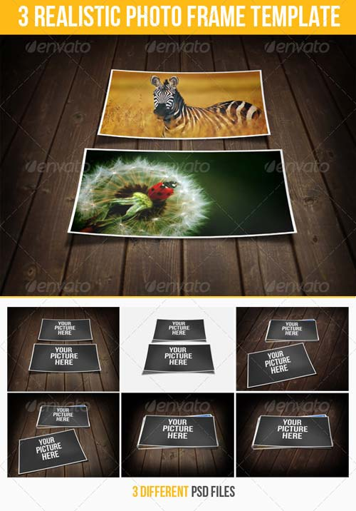 GraphicRiver 3 Realistic Photo Frame Templates