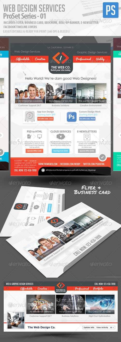 GraphicRiver Web Design Service Pro Set - All in One Bundle