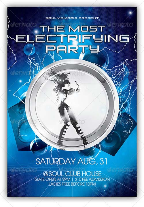 GraphicRiver Electrifying Party Flyer