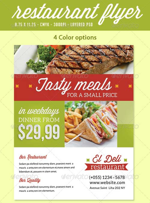 GraphicRiver Restaurant Flyer Print Ad