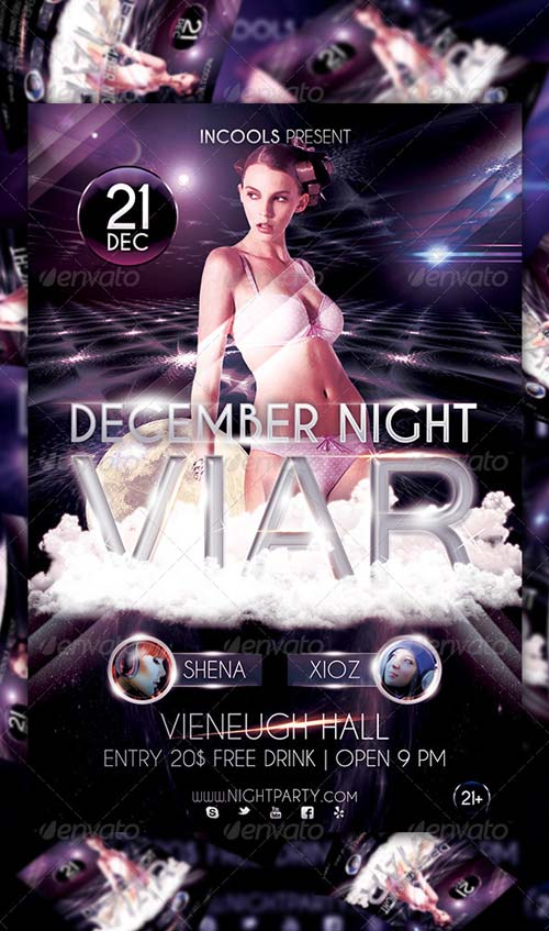 GraphicRiver December Night Viar Flyer Template