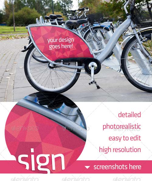 GraphicRiver Bike Ad Advert Mockup