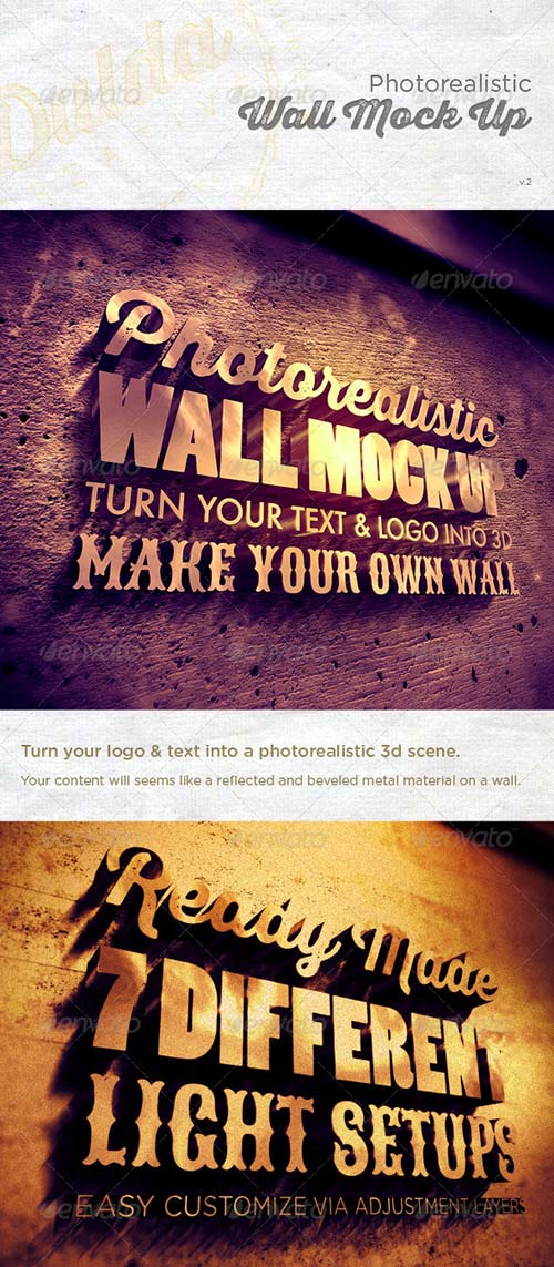 GraphicRiver Photorealistic Wall Mock Up 5434403