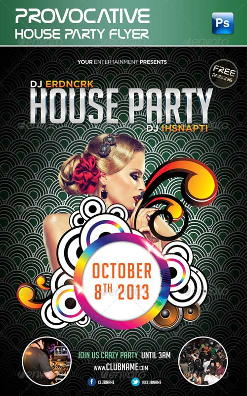 GraphicRiver Provocative House Party Flyer