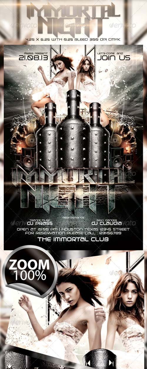 GraphicRiver Immortal Night Flyer Template