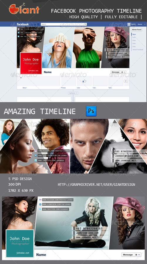 GraphicRiver Facebook Photography Timeline