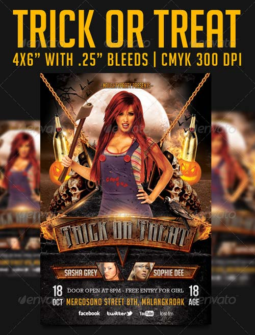 GraphicRiver Trick Or Treat Party