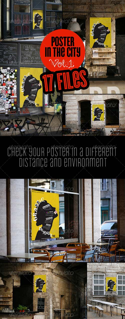 GraphicRiver Street Poster Mock-Up (Poster In The City Vol. 1)