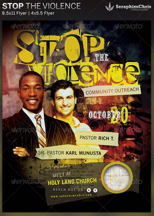 GraphicRiver Stop the Violence: Church Flyer Template