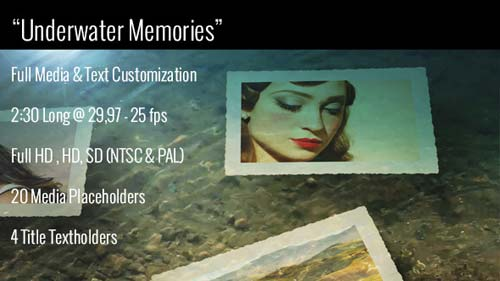 Underwater Memories Slideshow - After Effects Project (Videohive)