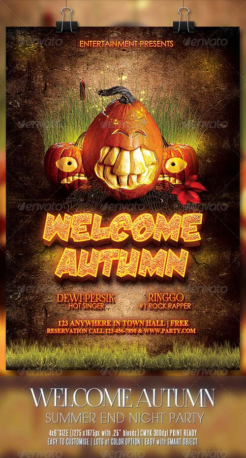 GraphicRiver Welcome Autumn Flyer