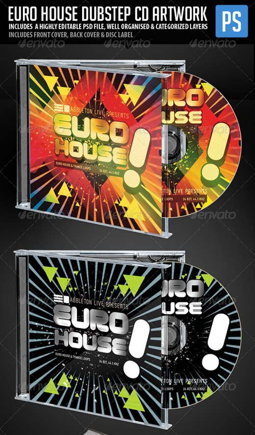 GraphicRiver Euro House Dubstep Music CD Artwork Template