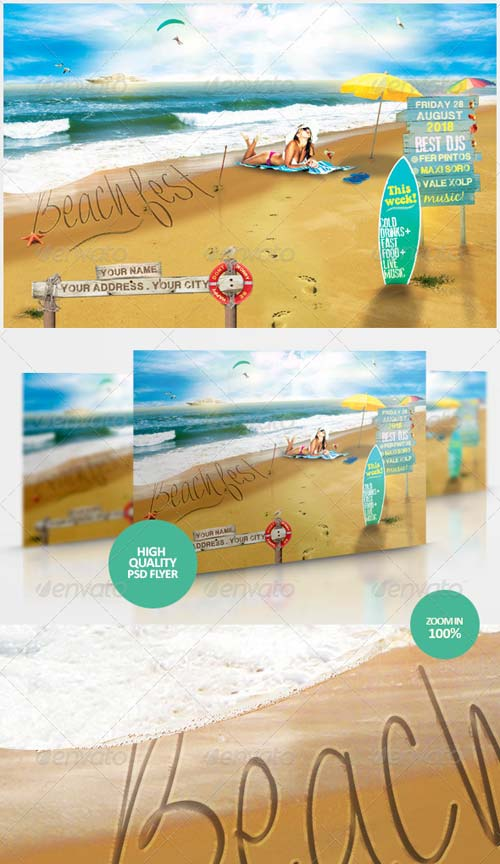 GraphicRiver Beach Fest Flyer Template