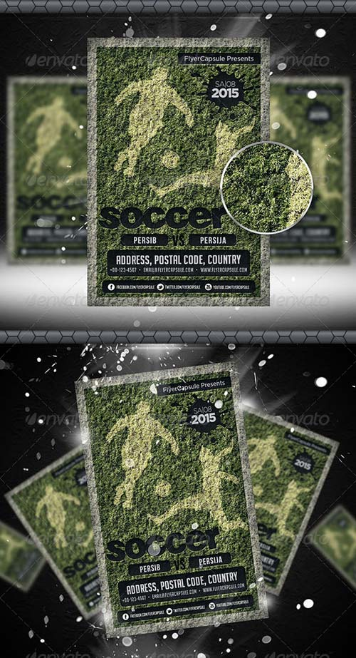 GraphicRiver Soccer Flyer Template