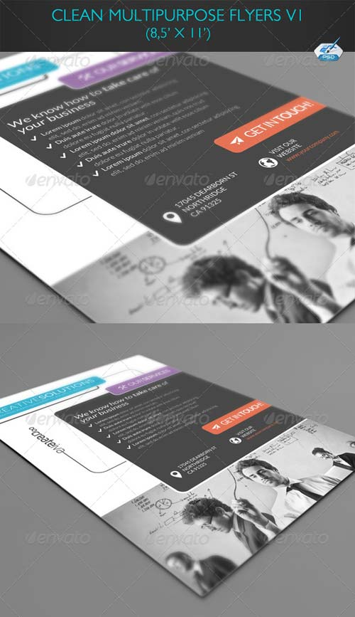 GraphicRiver Clean Multipurpose Flyers Vol2