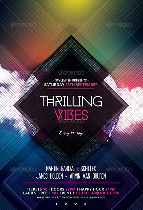 GraphicRiver Thrilling Vibes Flyer
