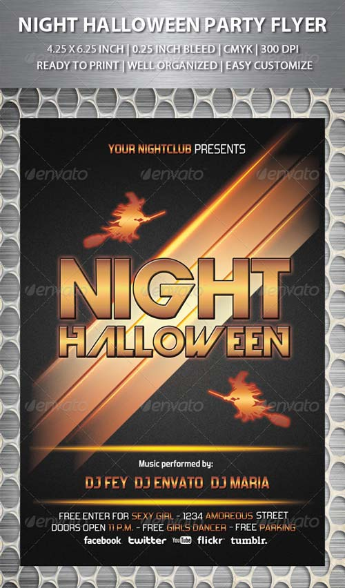 GraphicRiver Night Halloween Party Flyer