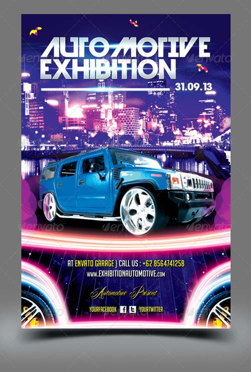 GraphicRiver Automotive Exhibition Flyer Template