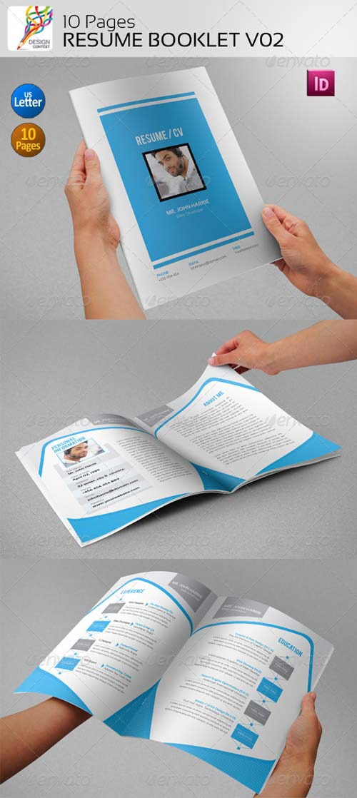 GraphicRiver 10 Pages Resume Booklet V02