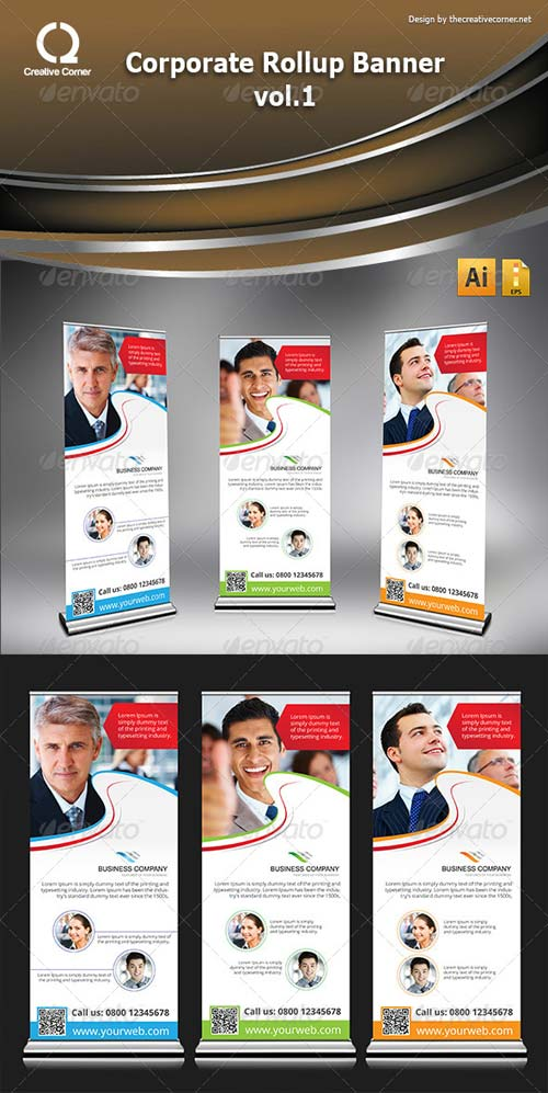 GraphicRiver Corporate Rollup Banner vol.1