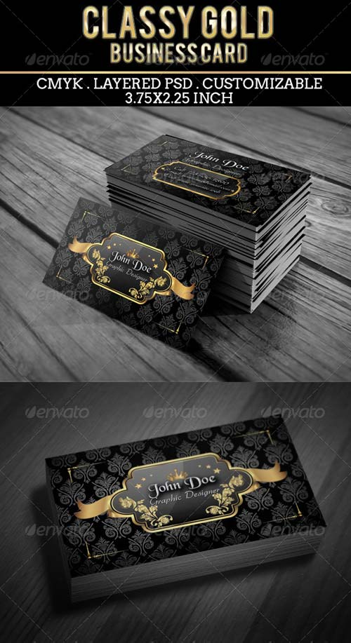 GraphicRiver Classy Gold Business Card