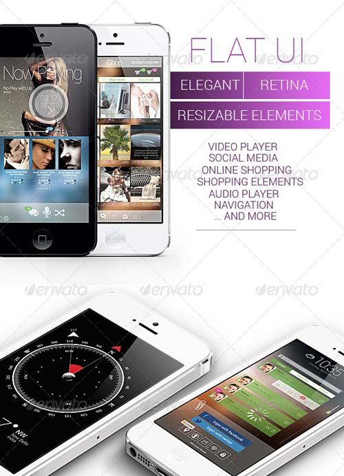 GraphicRiver Modern Flat UI Set - Retina Ready
