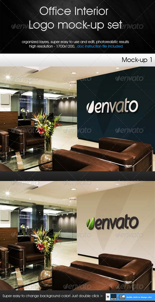 GraphicRiver Office Interior - Logo Mock-up Set