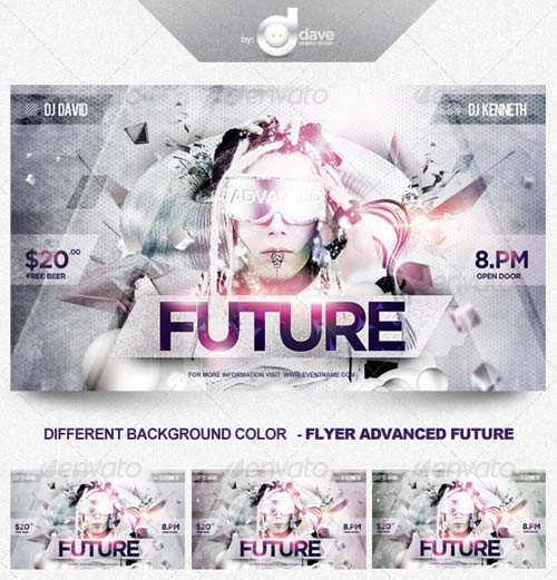 GraphicRiver Flyer Advanced Future