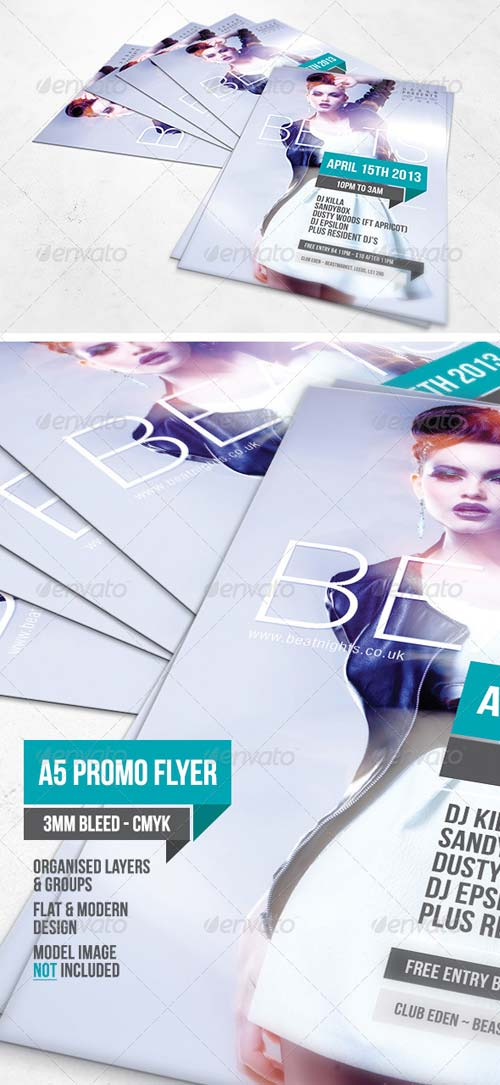 GraphicRiver Beats A5 Flyer Template