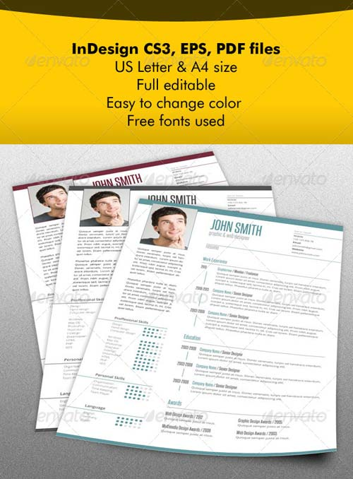 GraphicRiver Resume & Letter Bundle