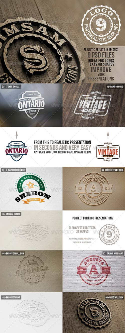 GraphicRiver Photorealistic Logo Mock-Ups Vol.1