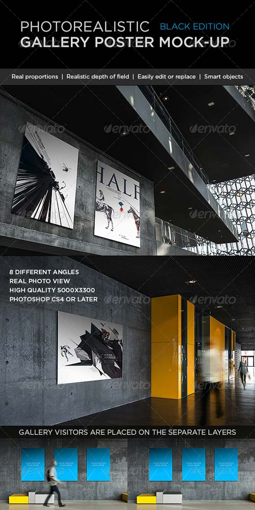 GraphicRiver Photorealistic Gallery Poster Mock-Up Vol. 2